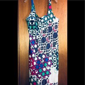 NATORI silky modern print nightgown Sz L